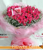 99 Peach Roses,hearted-shape package